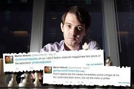 Что говорит о Мартине Шкрели его Twitter?