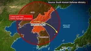 Северная Корея выпустила баллистическую ракету в море