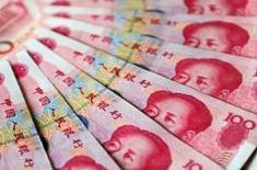 Китайский юань колеблется на ключевой отметке