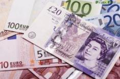Пара фунт-евро может вырасти с поддержки на 1.10